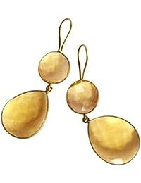 Gemshine - Damen - Ohrringe - 925 Silber - Vergoldet - Citrin - Quarz - Gelb - Gold - CANDY - Tropfen - 6 cm