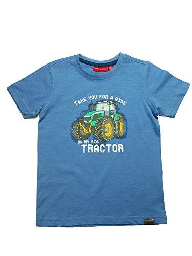 SALT AND PEPPER T-Shirt Tractor Prin 429 Ocean Blue - 128/134