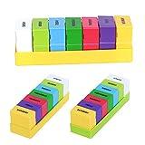 Pillendose 7 Tage Medikamentendosierer Pillenbox mit 28 Fächer Tablettenbox