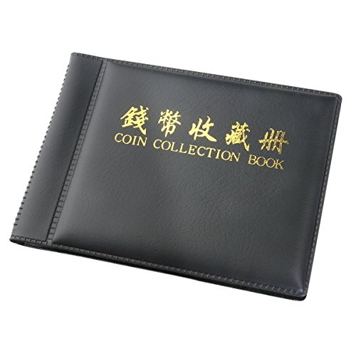 Münzen sammeln Album Geldbörse 60Taschen (schwarz) ()