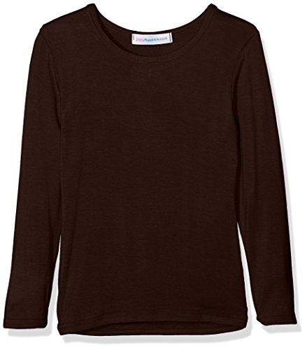 Jolly Rascals Girls Long Sleeved T-Shirt Top, Brown, 7-8 Years