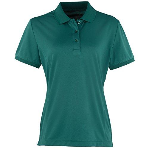 Premier Womens/Ladies Coolchecker Short Sleeve Pique Polo T-Shirt