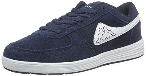 Kappa Trooper Plus Footwear Men, Leather, Baskets Basses mixte adulte Bleu - Blau (6710 navy/white)