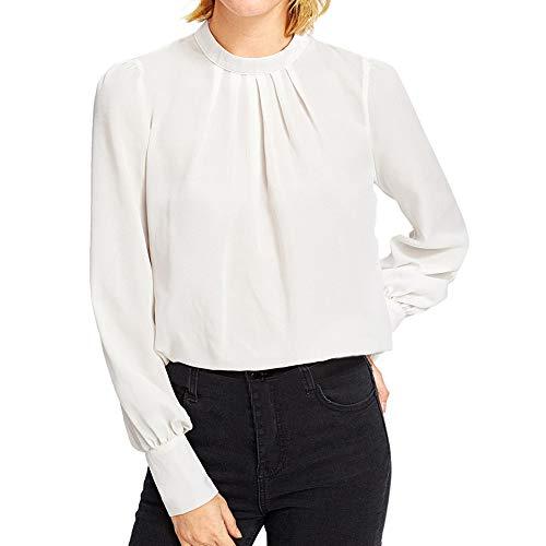 Feitong Damen T-Shirt Mode Solid Womens Lange Ärmel -