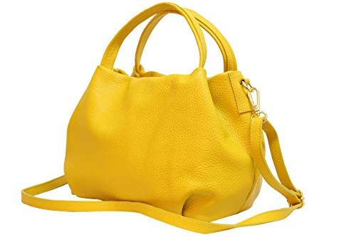 Bolso amarillo de piel de mano