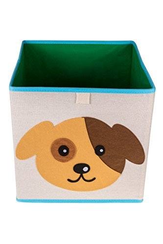 Clever Creations - Spielzeug-Aufbewahrungsbox mit niedlichem Welpen - perfekte Größe für Bücher, Kleidung, Elektrogeräte und Geräte - faltbar