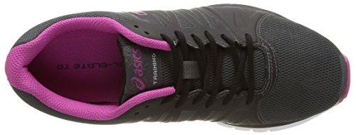 Asics Gel-Elate TR, Chaussures Multisport Outdoor Femme Noir (dark Grey/berry/black 9521)