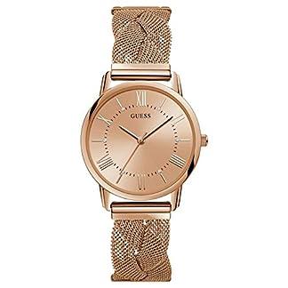 Guess Reloj Analógico para Mujer de Cuarzo con Correa en Acero Inoxidable W1143L3