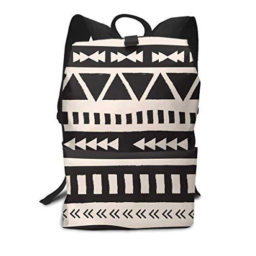 Geometrische Fransen dunklen Rucksack Mitte für Kinder Jugendliche Schule Reisetasche -