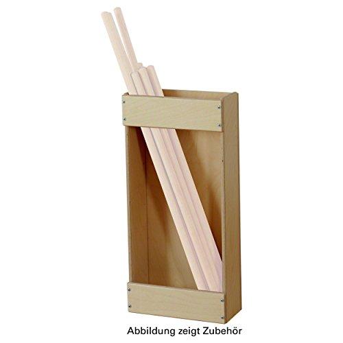 Aufbewahrungshilfe aus Holz, Flexi-Bar, Turnstäbe, Schulsport, Kindergarten