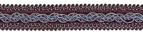 Marron, Bleu clair Baroque Collection Gimp Tresse 1–1/10,2cm Style #