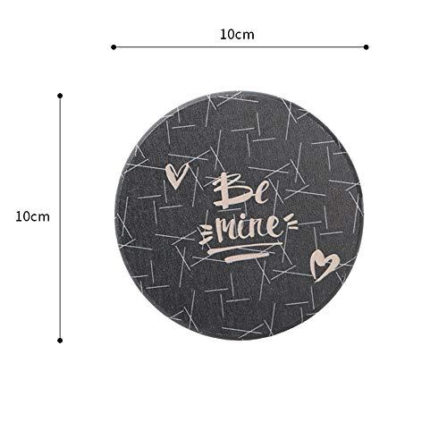 De Verre Décoration De Table Isolation Thermique Nonslip Pad Creative Artificielle Pour Bureau Bar Décor Black 01 10 * 10Cm*4Pcs ()