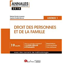 Droit des personnes et de la famille : Semestre 2