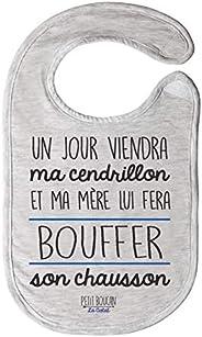 """Petit Boucan""""un jour viendra ma Cendrillon"""" - bavoir bébé garçon -100% coton doux - doublé en éponge"""