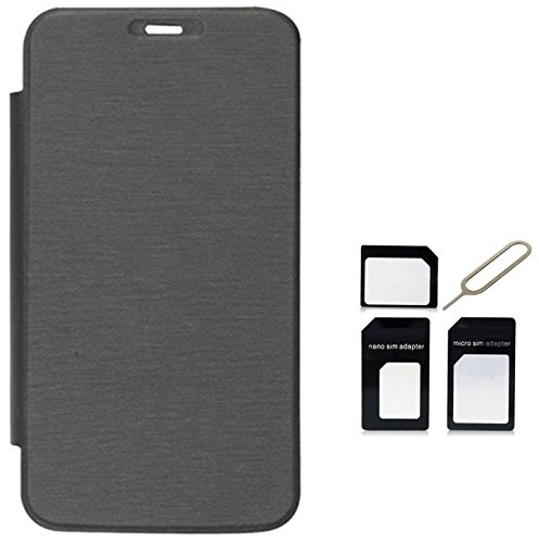 Tidel Black Flip Cover For HTC Desire M8 WITH Micro /Nano SIM Adapter  available at amazon for Rs.189
