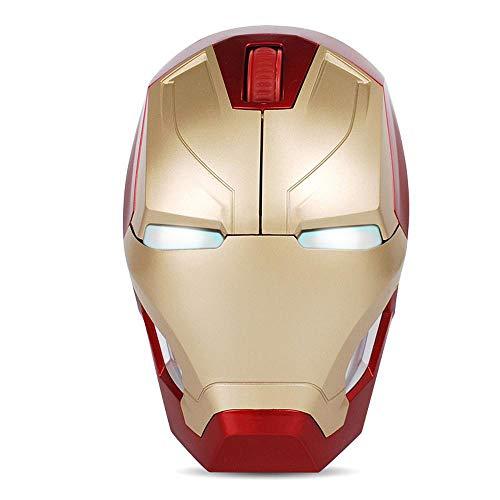BLL Optische Funkmaus Iron Man 2,4 G, Auge mit LED-Licht, Batteriebetrieb, USB-Signalempfänger -