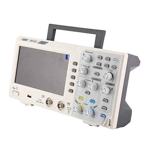 OWON SDS1102 Doppelkanal-LCD Super-ökonomischer Typ Oszilloskop für Oszilloskope Scopemeter Scope Meter 100MHz 1GSa / s