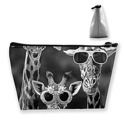 Bunte Giraffen-Sonnenbrille-Münzen-Geldbeutel-Änderungs-Beutel-Bleistift-Kasten-Mobiltelefon-Kasten bilden Taschen