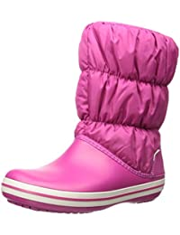 crocs Damen Winter Puff Boot WOM Schneestiefel Schwarz/Charcoal