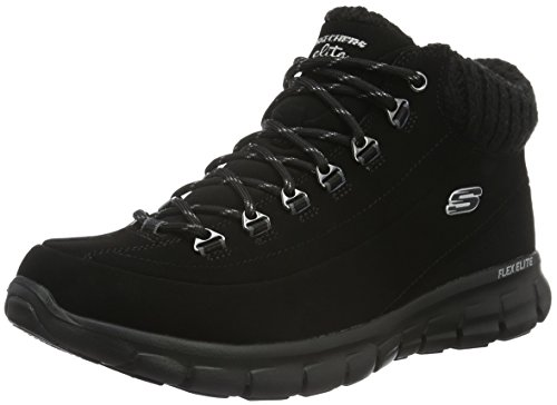Skechers (SKEES) SYNERGY-WINTER NIGHTS, Women Low-Top Sneakers, Black (Black), 4 UK (37 EU)