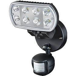 Brennenstuhl Hochleistungs-LED-Leuchte L801 PIR IP55 mit Infrarot-Bewegungsmelder Outdoor schwarz, 1178530
