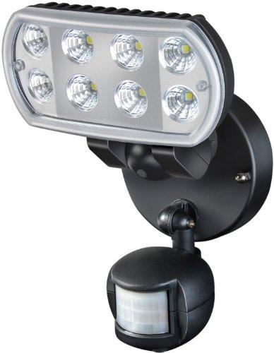 Brennenstuhl Hochleistungs-LED-Leuchte L801 PIR IP55 mit Infrarot-Bewegungsmelder Outdoor schwarz, 1178530 -