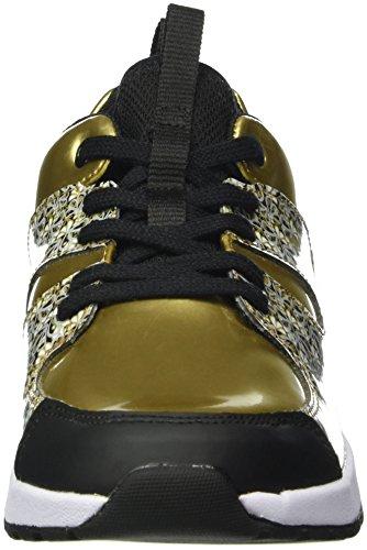 Clarks Kids Adven Jump, Baskets Basses Fille Jaune (Gold Metallic)