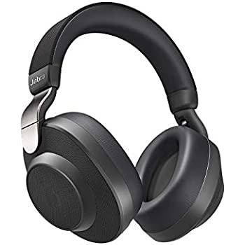 Jabra Elite 85h Over Ear Headphones with ANC and SmartSound Technology, Alexa Built-in, Titanium Black