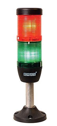 Emas A.S. IK52L024XM03Signal Continuous LED 24V Two Tier Column Diameter 50mm, 110mm, Aluminium Base