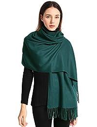 New Fashion Women/'s blanc 100/% Cachemire Pashmina Foulard Wrap Châle étole