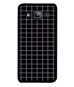 PrintVisa Designer Back Case Cover for Samsung Galaxy J2 (blackish darken checked style pattern)