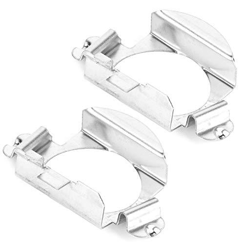 Coppia di supporti di fissaggio dell'adattatore per lampadine per fari a LED H7, adattatore per clip per lampadine per fari per auto, supporto per zoccolo per adattatore per base di lampadina per f