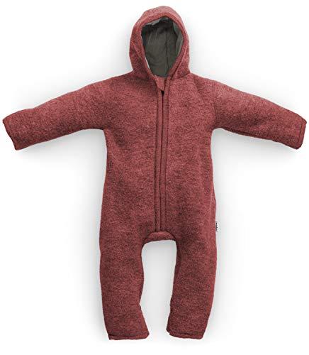 Ehrenkind® Made in Germany WALKOVERALL   Baby Wollwalk-Overalls aus Bio Natur Schurwolle mit Reißverschluss   Walk Wolle Woll-Anzug für Kleinkind und Baby   Vino Gr. 74/80