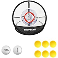 posma cn010a Tragbares Golf Training Chipping Net Bundle Set mit 1Hitting Hilfe Praxis in/outdoor Tasche trifft Netze + 2Golf Tour Ball + 6Golf PU Ball