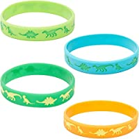 Blue Panda Dinosaur Silicone Bracelet 24-Pack Kids Rubber Wristbands