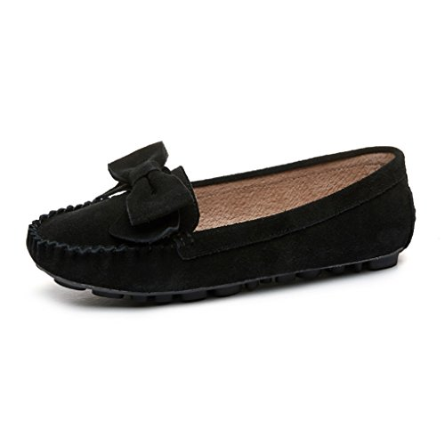 Hwf Chaussures Pour Femmes Peas Shoes Spring Chaussures Plates Pour Femmes, Une Pédale, Chaussures Fainéantes, Chaussures Pour Femmes Enceintes (couleur: Rose, Taille: 36) Noir