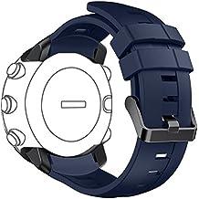 Para Suunto Core reloj correa de repuesto, DB colorido suave silicona correa con hebilla de metal de repuesto para Suunto Core reloj inteligente (talla única, no engañar), Deep Blue