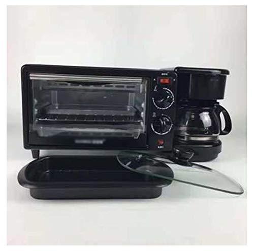 QPSGB Backofen-Toaster Multifunktions-Drei-in-1-Frühstücksmaschine Ofen-Elektro-Backblech Kaffeemaschine Geschenk - Backöfen (Ofen Kaffeemaschine Toaster Mit)
