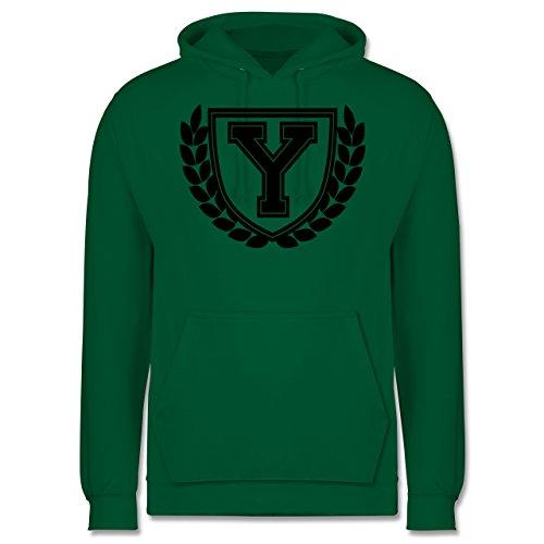 Anfangsbuchstaben - Y Collegestyle - Männer Premium Kapuzenpullover / Hoodie Grün