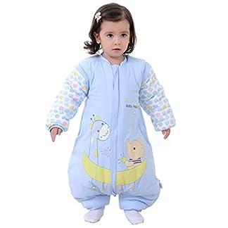 Saco de dormir para bebé con piernas forrado cálido de invierno, manga larga, saco de dormir de invierno con pies, para niñas, unisex, mono