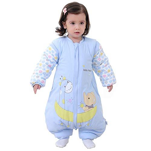 Baby Schlafsack mit Beinen Warm gefüttert Winter Langarm Winterschlafsack mit Füssen,Junge Mädchen Unisex Overall Schlafanzug(XL/Koerpergroesse 95-105cm, Balu/3.5 Tog)