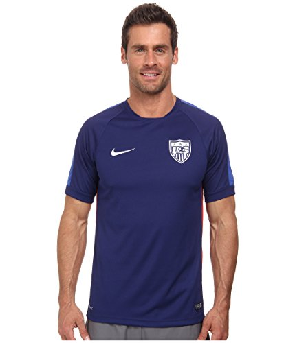 Nike USA Herren Squadra Short Sleeve Training Top 2 Fußball Jersey (blau), Blau, 643866-421 -