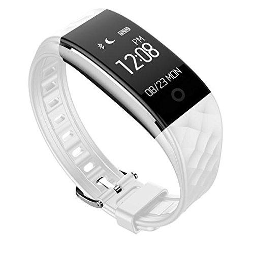 Bogoss Pulsera de seguimiento de actividad, pulsómetro, impermeable, GPS, podómetro, monitor de sueño, contador de pasos, contador de calorías, reloj fino