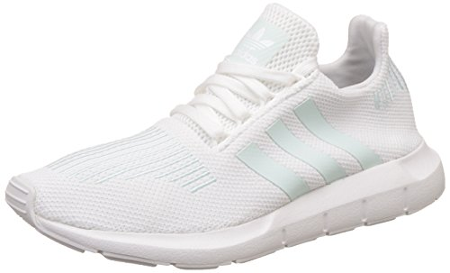 adidas Damen Swift Run Laufschuhe, Weiß (Footwear White/Grey One/Ice Mint), 38 EU