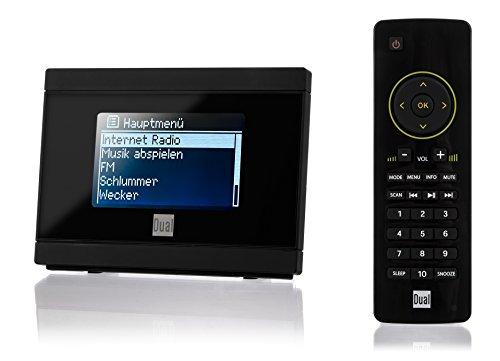 Dual IR 2A Internetradio-Adapter für Stereoanlage (WiFi, UKW, UPnP, 3,5 mm Klinke) mit Uhr-/Alarmfunktion inkl. Fernbedienung schwarz - Dual-radio-website