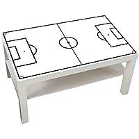Preisvergleich für Möbelaufkleber Fußballfeld weiß - passend für IKEA LACK Couchtisch - klein - DIY Kickertisch - Möbel nicht inklusive