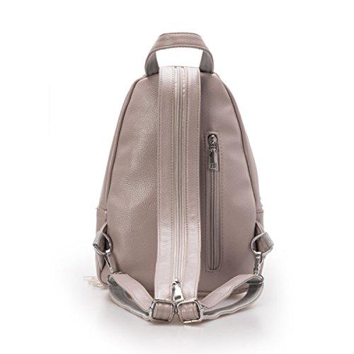 Student Rucksack Damenmode Rucksack Persönlichkeit Diagonal Paket,Grey Black