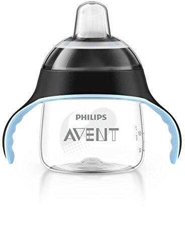 Philips AVENT SCF751/03 - Bicchiere con beccuccio, per bambini dai 6 anni in su, 200 ml, colore: Nero [Importato da Unione Europea]