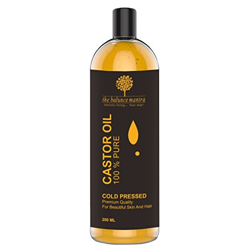The Balance Mantra Premium Cold Pressed 100% Pure Unrefined Hexane-Free Castor Oil For Skin And Hair 200Ml