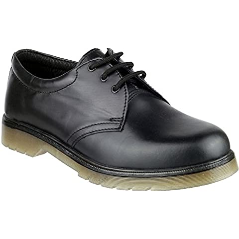 Amblers Lace-Up Textile Lined Mens Shoes - Black - Size 14 15